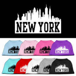 New York City Skyline Screenprint t-shirt sleeveless dog multi-colors
