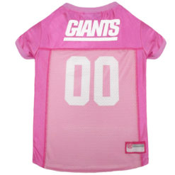 New York Giants Pink NFL Dog Jersey