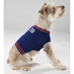 New York Giants turtleneck dog sweater on pet