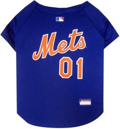 New York Mets MLB dog jersey back
