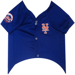New York Mets MLB dog jersey front