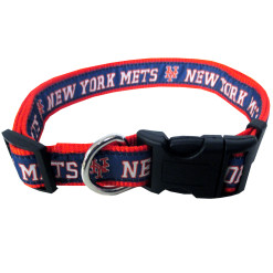 New York Mets MLB nylon dog collar