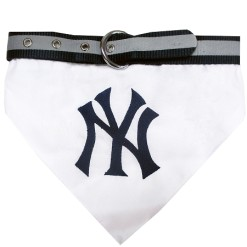 New York Yankees MLB adjustable dog collar and banadana