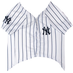 New York Yankees MLB dog jersey front