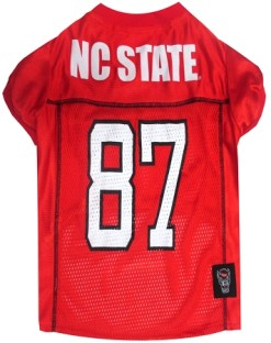 North Carolina State Wolfpack NCAA dog jersey