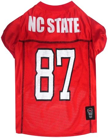 North Carolina State Wolfpack NCAA dog jersey