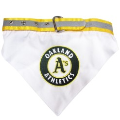 Oakland Athletics MLB dog bandana and collar