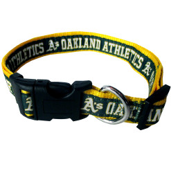 Oakland Athletics nylon adjustable dog collar