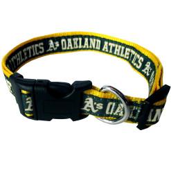 Oakland Athletics nylon adjustable dog collar