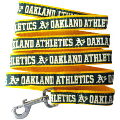 Oakland Athletics nylon dog leash
