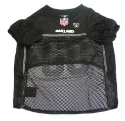 Oakland Raiders NFL dog jersey front