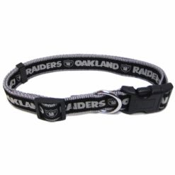 Oakland Raiders NFL nylon dog collar