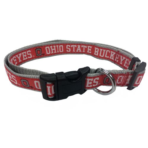 Ohio State Buckets Nylon Dog Collar