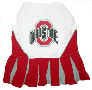 Ohio State NCAA cheerleader dog dress