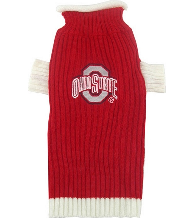 Ohio State NCAA dog turtleneck sweater