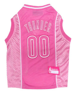 Oklahoma City NBA Dog Jersey Pink