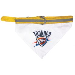 Oklahoma City Thunder NBA Dog Bandana and Collar