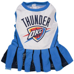 Oklahoma City Thunder NBA Dog Cheerleader Dress front