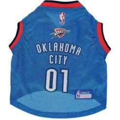 Oklahoma City Thunder NBA Dog Jersey front