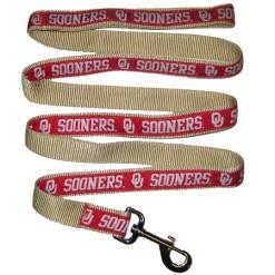 Oklahoma Sooner nylon nylon dog leash