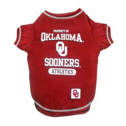 Oklahoma Sooners Athletics dog tee shirt