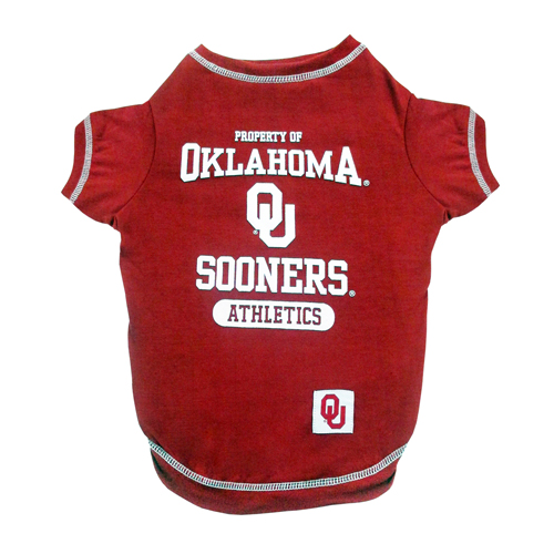 Oklahoma Sooners Athletics dog tee shirt