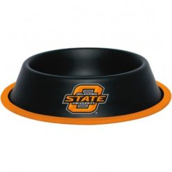 Oklahoma State Cowboys NCAA Stainless Black Dog Bowl