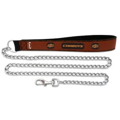 Oklahoma State Cowboys NCAA leather chain leash