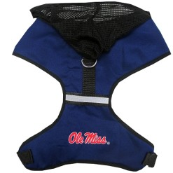 Ole Miss NCAA mesh dog harness