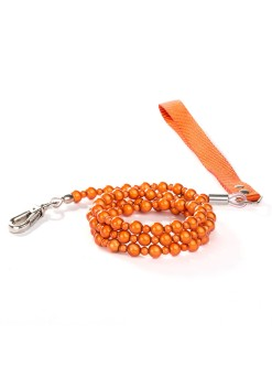 Orange Fabuleash Lumi Bead Dog Leash