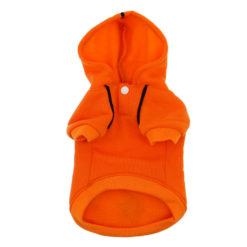 Orange Sport Dog Hoodie front
