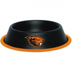 Oregon Beavers NCAA Stainless Black Dog Bowl
