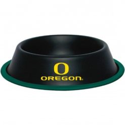 Oregon Ducks NCAA Stainless Black Dog Bowl