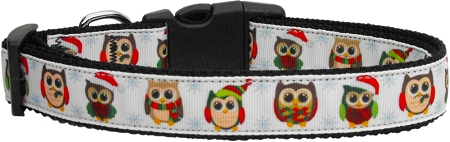 Owls Christmas Hats adjustable dog collar Santa Hats
