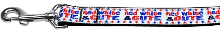 Patriotic Red, white and cute dog leash Fourth of July