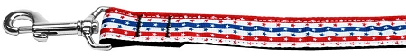 Patriotic Stars and Stripes Red White and Blue adjustable dog leash