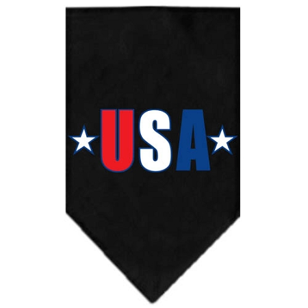 Patriotic USA stars dog bandana black
