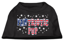 Pawtriotic Pup Stars Screenprint t-shirt sleeveless dog black