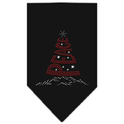 Peace Christmas tree rhinestone dog bandana