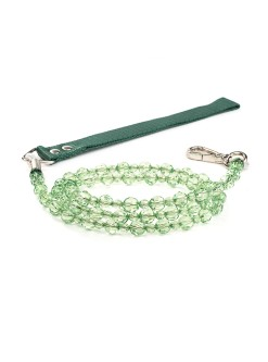 Peridot Beaded Dog Leash Fab