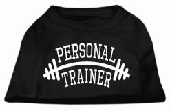 Personal trainer Screenprint t-shirt sleeveless dog black
