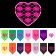 Pink Argyle heart dog bandana