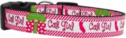 Pink Cali Girl Adjustable Nylon Dog Collar