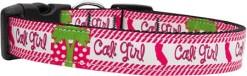 Pink Cali Girl Adjustable Nylon Dog Collar