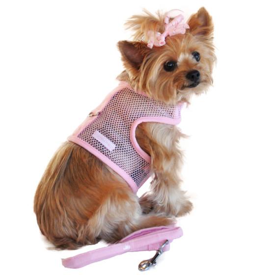 Pink Cool Mesh Dog Harness