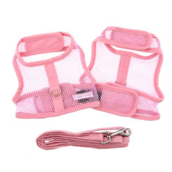 Pink Cool Mesh Dog Harness and Leash product
