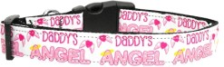 Pink Daddy's Girl Adjustable dog collar