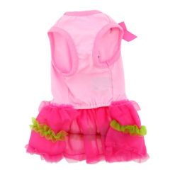 Pink Flamingo and Palm Tank Dog Dress front