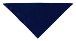 Plain Navy Blue dog bandana