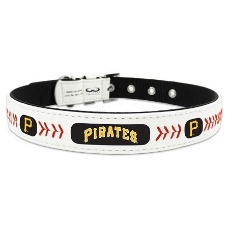 Pittsburgh Pirates leather dog collar